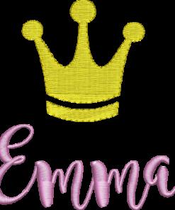 Krone mit Name