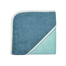 Zweifarbig rauchblau/kristallblau