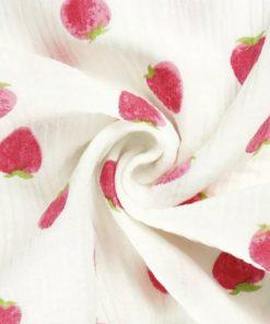 Musselin Erdbeeren