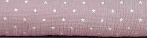 Musselin-Altrosa Sterne