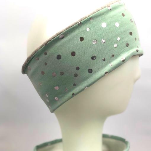 Altgrün silber Punkte