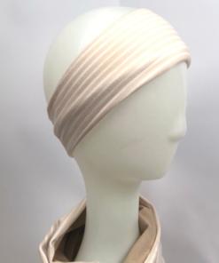 Stirnband Streifen beige
